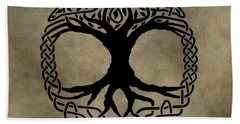 Celtic Tree Of Life Beach Towel