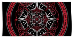Celtic Vampire Bat Mandala Beach Sheet