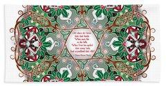 Celtic Winter Fairy Mandala Beach Towel