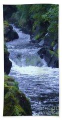 Beach Towel featuring the photograph Cenarth Falls by John Williams