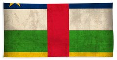 Central African Republic Flag Vintage Distressed Finish Beach Towel