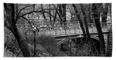 Beach Sheet featuring the photograph Central Park 2.1 Black And White by Chris Thomas