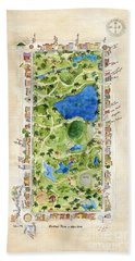 Central Park And All That Surrounds It Beach Towel