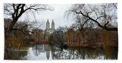 Central Park And San Remo Building In The Background Beach Towel by RicardMN Photography