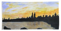 Central Park In Newyork Beach Towel by Sonali Gangane