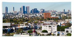 Century City, Beverly Hills, Wilshire Beach Towel by Panoramic Images