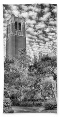 Beach Towel featuring the photograph Century Tower by Howard Salmon