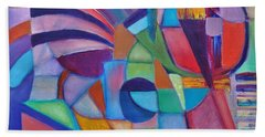 Beach Towel featuring the painting Cerebral Decor # 2 by Jason Williamson