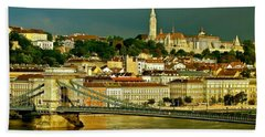 Beach Towel featuring the photograph Chain Bridge Budapest by Ira Shander