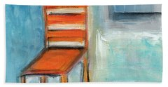 Chair By The Window- Painting Beach Towel