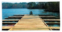 Chair On Dock By Jan Marvin Beach Sheet