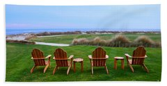 Chairs At The Eighteenth Hole Beach Towel