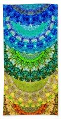 Chakra Mandala Healing Art By Sharon Cummings Beach Sheet