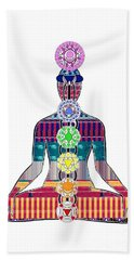 Chakra Yoga Mandala  Buy Faa Print Products Or Down Load For Self Printing Navin Joshi Rights Manage Beach Sheet