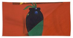 Chameleons Vase Beach Towel