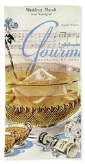 Champagne Punch And The Wedding March Beach Towel