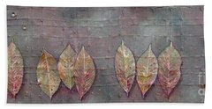 Beach Towel featuring the mixed media Changing Leaves by Phyllis Howard