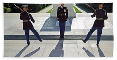 Beach Towel featuring the photograph Changing Of The Guard by Cora Wandel