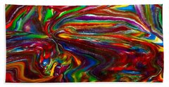 Chaotic Flow Beach Towel