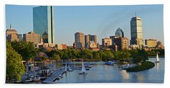 Charles River At Sunset Beach Towel
