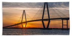 Charleston Sun Setting  Beach Towel