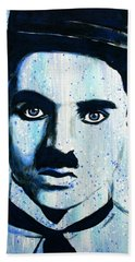 Charlie Chaplin Little Tramp Portrait Beach Sheet