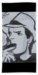 Charlie Sheen Beach Sheet by Kathy Marrs Chandler