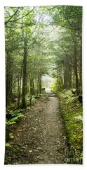 Beach Towel featuring the photograph Charlies Bunion Bald Trail by Debbie Green