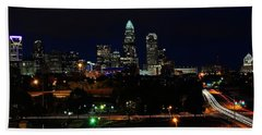 Charlotte Nc At Night Beach Towel