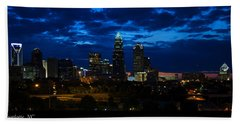 Charlotte North Carolina Panoramic Image Beach Towel