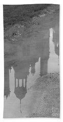Chateau Chambord Reflection Beach Towel by HEVi FineArt