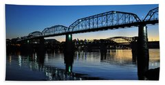 Tennessee River Bridges Chattanooga Beach Towel