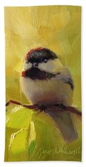 Chatty Chickadee - Cheeky Bird Beach Towel