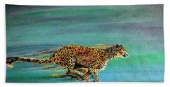 Cheetah Run Beach Towel