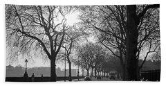 Chelsea Embankment London 2 Uk Beach Towel