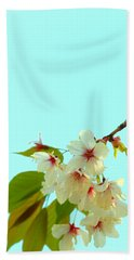 Cherry Blossom Flowers Beach Towel by Rachel Mirror