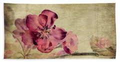 Cherry Blossom With Textures Beach Towel