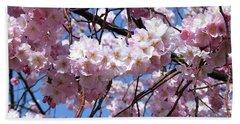 Cherry Blossom Trees Of Branch Brook Park 3 Beach Sheet