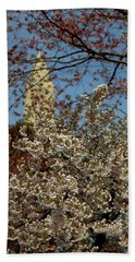 Cherry Blossoms And The Monument Beach Towel