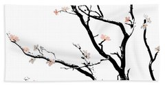 Cherry Blossoms Tree Beach Sheet