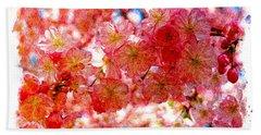 Cherry Blossums Beach Sheet