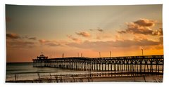 Cherry Grove Pier Myrtle Beach Sc Beach Sheet by Trish Tritz
