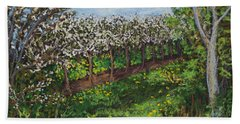 Cherry Orchard Evening Beach Towel