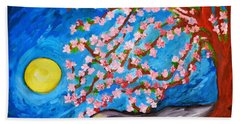 Cherry Tree In Blossom  Beach Sheet by Ramona Matei