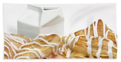 Beach Towel featuring the photograph Cherry Turnovers - Baker - Sweets Shoppe - And Milk by Andee Design