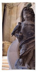 Beach Sheet featuring the photograph Cherub At The Entrance Of Zwinger Palace - Dresden Germany by Jordan Blackstone