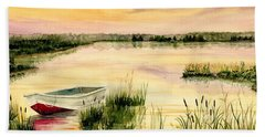 Chesapeake Marsh Beach Sheet by Melly Terpening