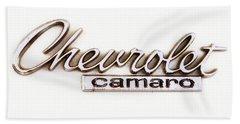 Chevrolet Camaro Emblem Beach Towel by Jerry Fornarotto