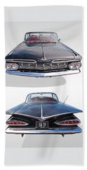 Chevrolet Impala 1959 Front And Rear Beach Towel
