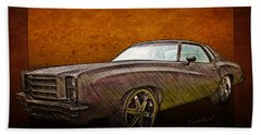 1976 Chevy Monte Carlo Poster Beach Towel